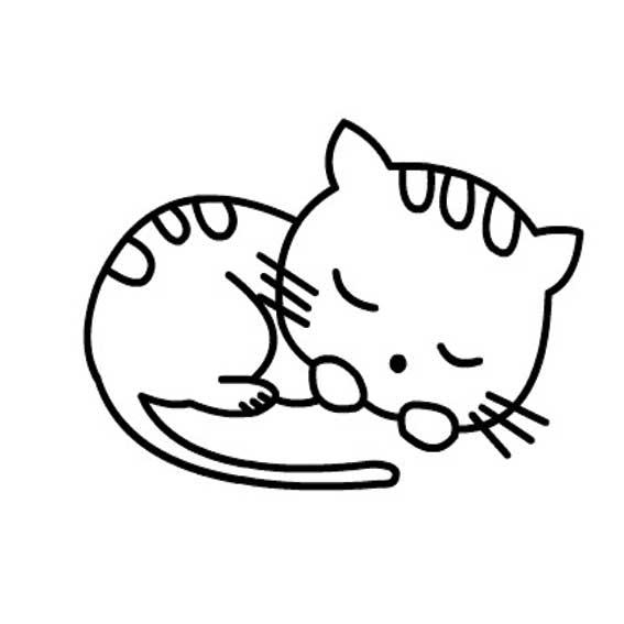 表情 懒猫简笔画 睡觉的小猫咪怎样画 育才简笔画 表情