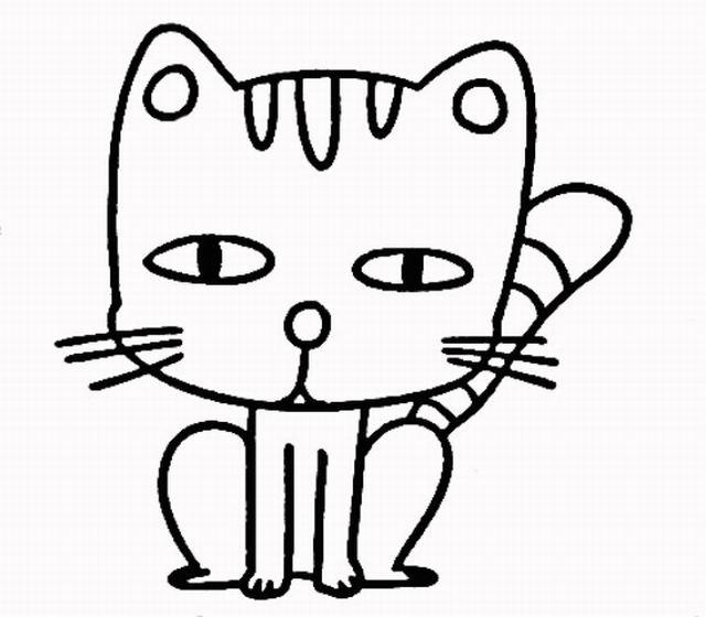 表情 儿童简笔画教程 简笔画小猫的画法 4 如何画小猫简笔画简笔画教程 小  表情