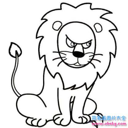 表情 怎么画狮子凶恶的眼神表情简笔画 简笔画表情 儿童简笔画图片大全 表情