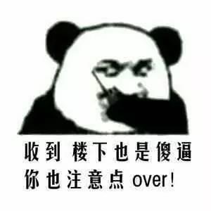 逼 你也注意点over!-表情 熊猫头蘑菇头对讲表情,一对逗比 雪花新