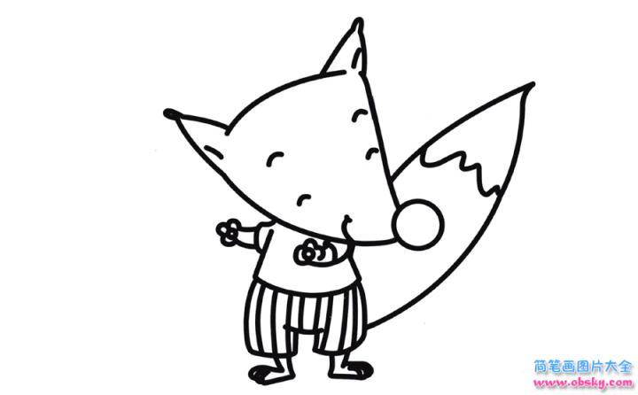 表情 彩色狐狸简笔画画法 怎么画彩色狐狸的简笔画 简笔画大全 儿童简