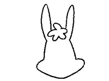 表情 兔子的简笔画怎样画,兔子头可爱画法 育儿天堂 表情