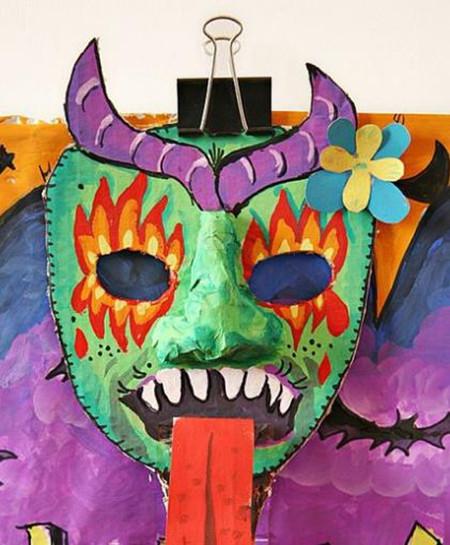 表情 万圣节面具怎么做 制作方法图片详解 万圣节儿童面具DIY教程 9号健康网 表情