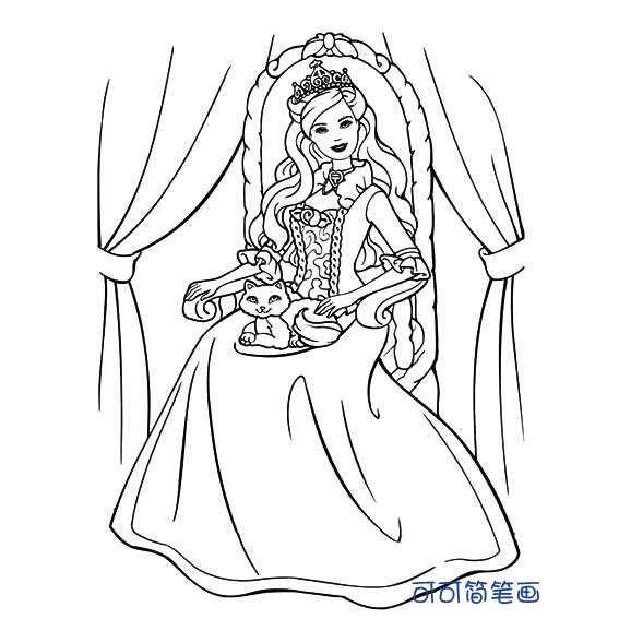 表情 表情娃娃简笔画公主 第2页 一起QQ网 表情