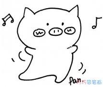 表情 卡通小猪表情的画法简单好看 小猪简笔画图片 巧巧简笔画 表情