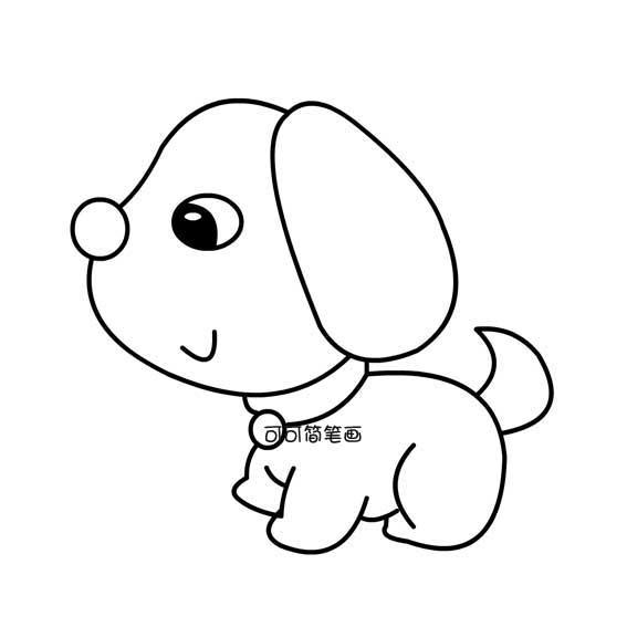 表情 狗简笔画图片大全 可可简笔画 表情