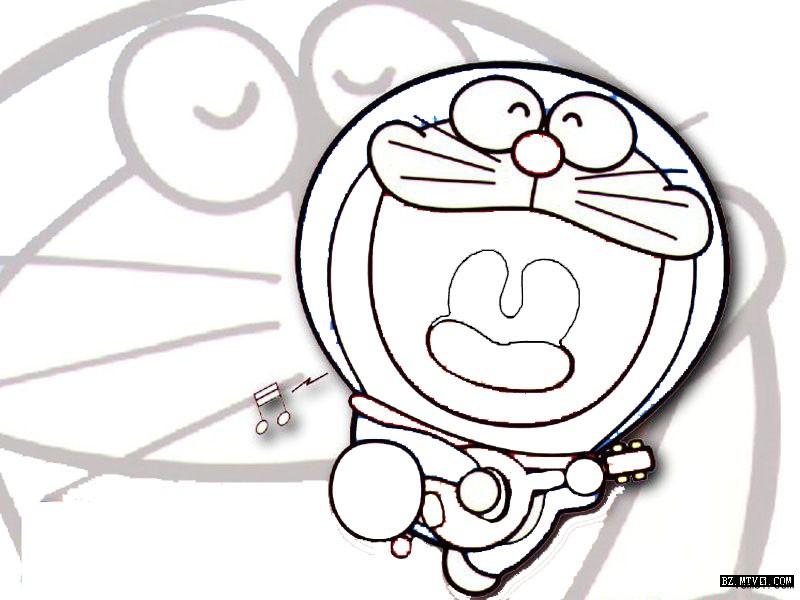 表情 简笔画机器猫头 好看的画大全 表情