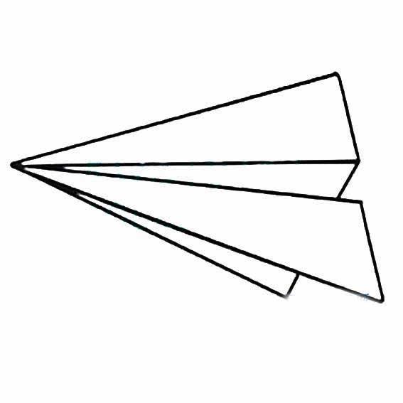 表情 儿童玩具纸飞机简笔画画法 育才简笔画 表情