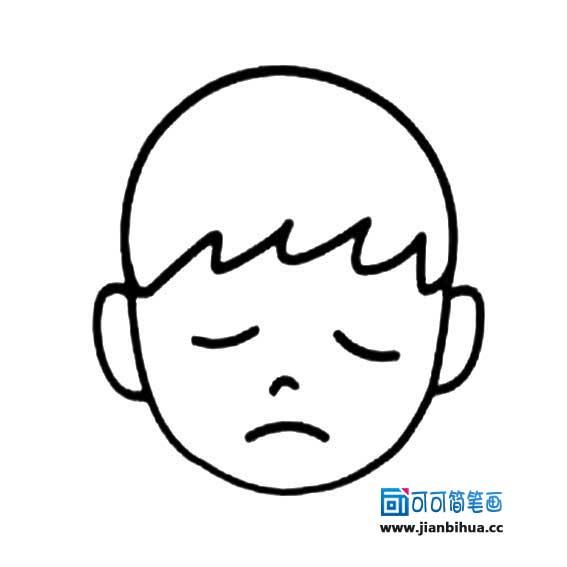 表情 不开心表情简笔画 2 可可 表情