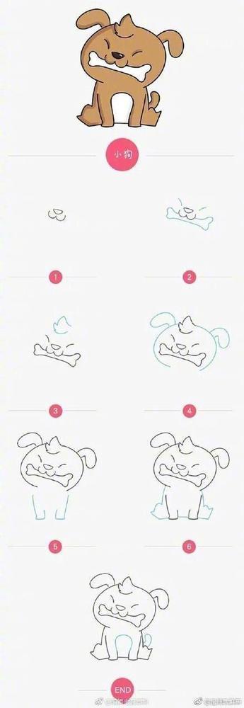 表情 9种动物简笔画 简约型文化普通难度 卡通动物 千千简笔画 表情