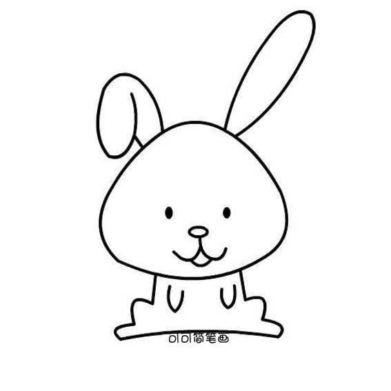 表情 可爱小兔子简单画法 可可简笔画 表情