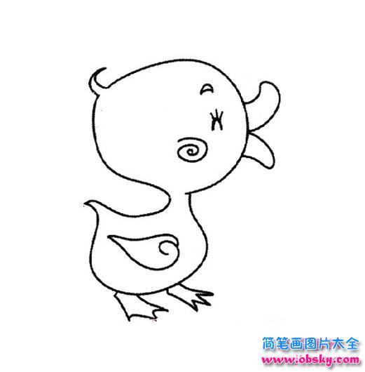 表情 可爱的小鸭子简笔画图片 简笔画小鸭子 儿童简笔画图片大全 表情