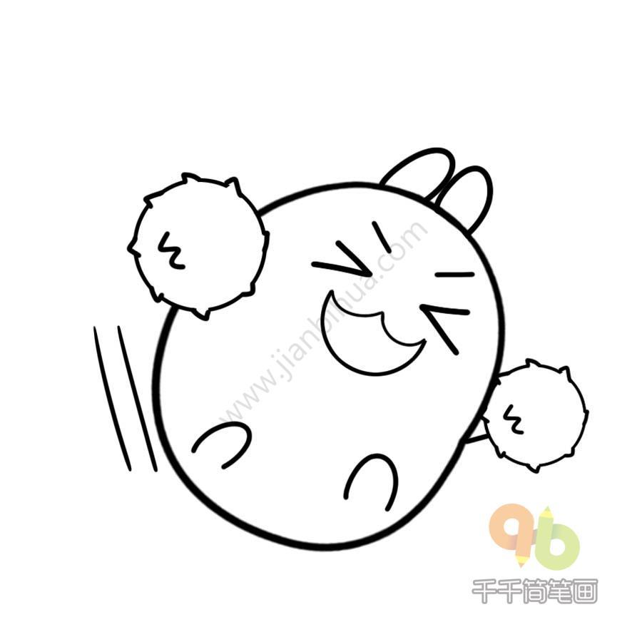 表情 土豆兔加油表情包千千简笔画简笔画图片大全 表情