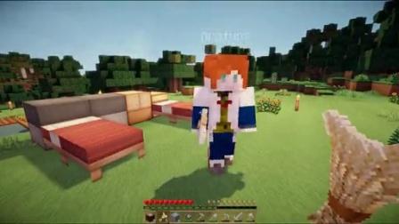 表情 我的世界Minecraft 大橙子教小枫玩生存第2集 挖矿打怪死死死 在