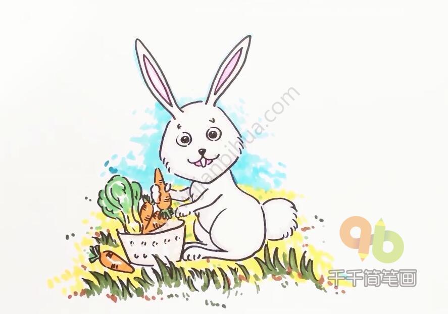表情 小兔子乖乖儿歌简笔画,最爱吃胡萝卜大白菜 简约型文化普通难