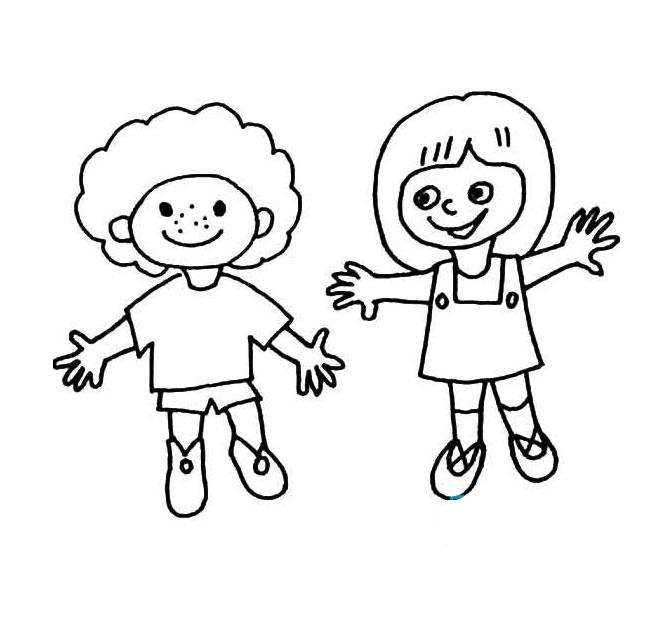 表情 小男孩小女孩卡通简笔画图片 亿万先生客户端下载 表情
