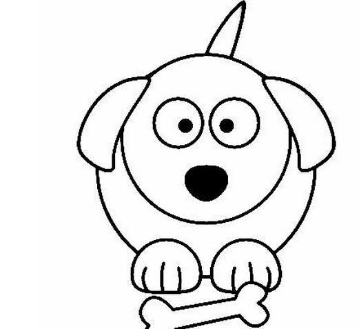 表情 卡通动物简笔画可爱小狗狗,绘画图片,儿童文艺 绘艺素材网 表情