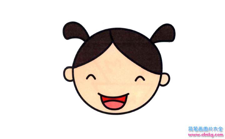 表情 彩色小女孩简笔画画法 怎么画彩色小女孩的简笔画 简笔画大全 儿童简  表情