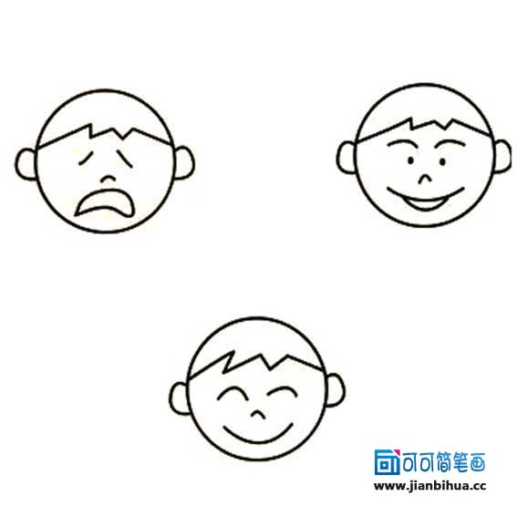 表情 简笔画小表情 害怕表情简笔画 简笔画人物表情 圈子花园图片 表情