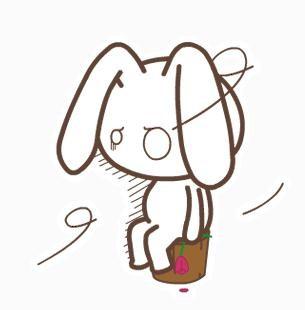 表情 简笔画兔子彩色图片 表情