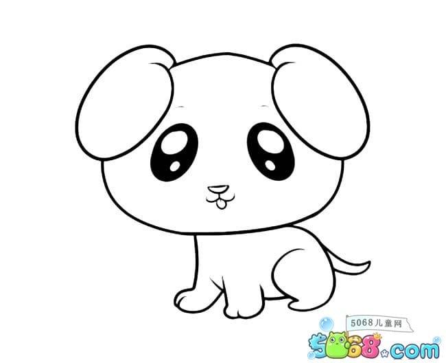 情 可爱小狗的简笔画图片 萌萌哒的狗狗 乖孩子网儿童第一门户 表情