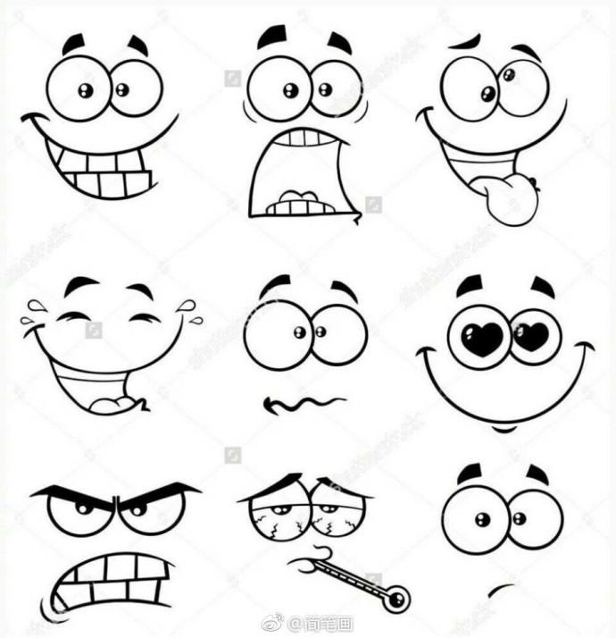 表情 动 面笔画 表情