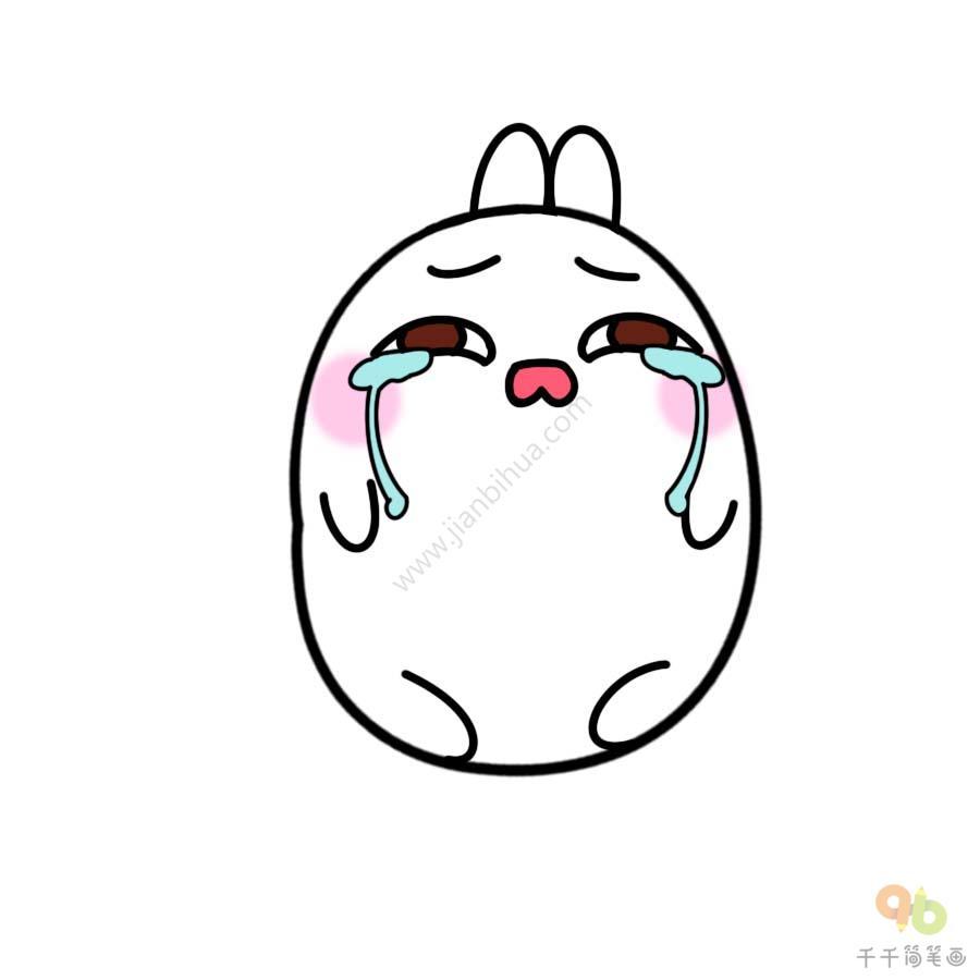 表情 土豆兔流泪表情包 表情包 千千简笔画移动版 表情