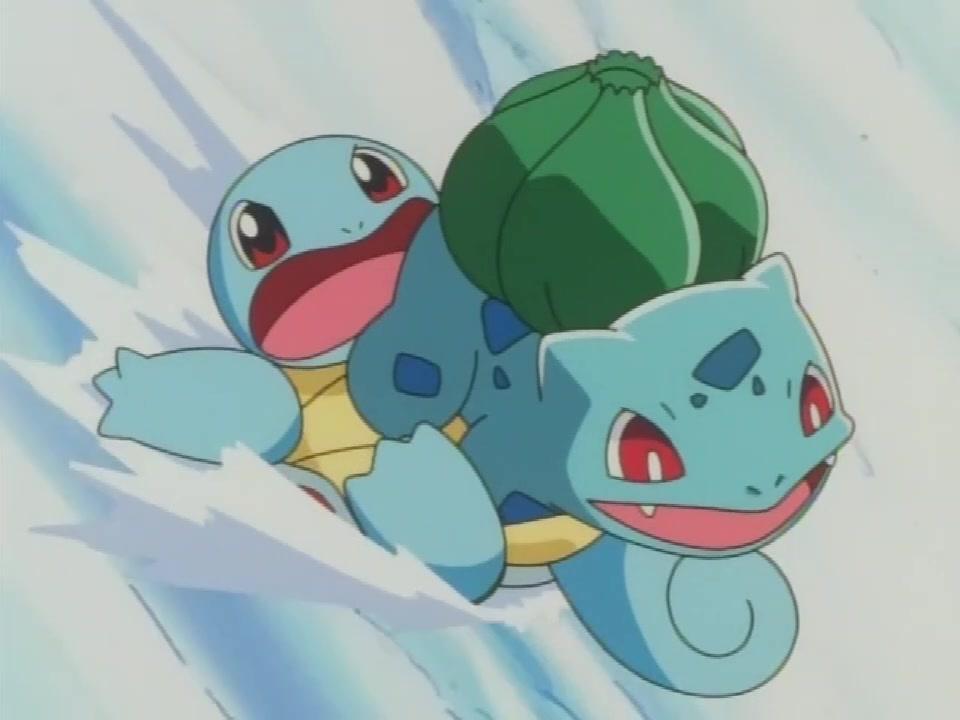 表情 神奇宝贝 杰尼龟只需要小水枪就把它打的落荒而逃,太可爱了 杰尼龟  表情