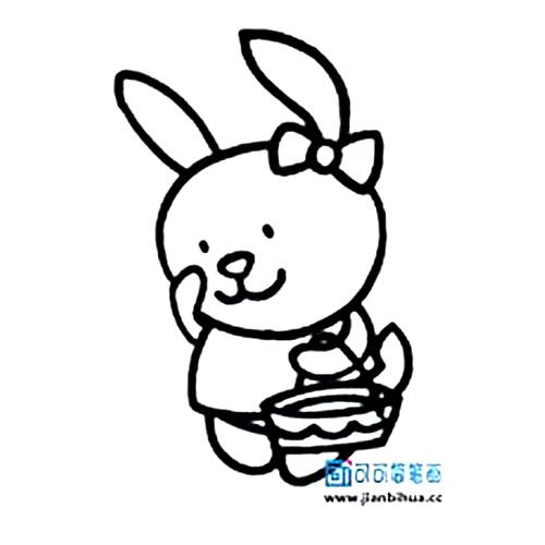 表情 米菲兔简笔画大全可爱,简笔画兔子耳朵图片 育儿天堂 表情