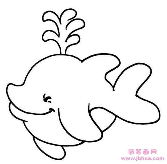 表情 海洋动物简笔画图片 鲸鱼 简笔画网 表情