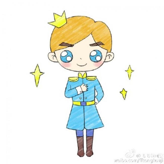 表情 唯美的小王子漫画卡通画画法小王子简笔画儿童画怎么会简单的小  表情
