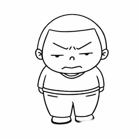 表情 生气的男孩简笔画怎样画 育才简笔画 表情