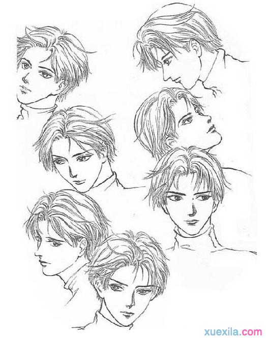 表情 动漫人物面部表情的画法 表情