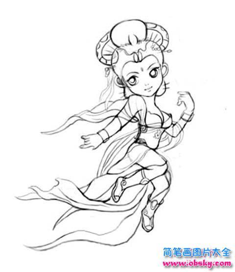 表情 动漫人物嫦娥简笔画图片 嫦娥 儿童简笔画图片大全 表情