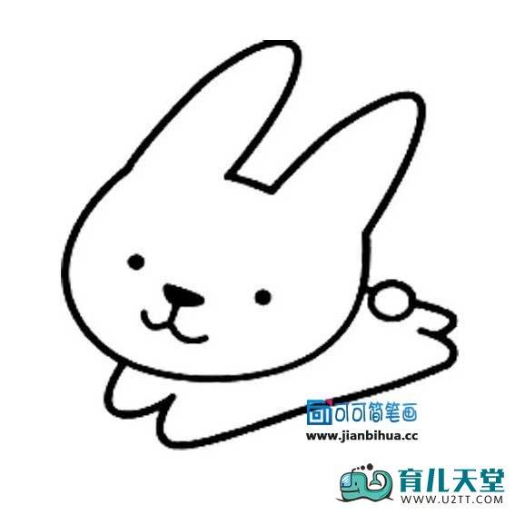 表情 对称兔子简笔画图片,儿童简笔画小兔子 育儿天堂 表情
