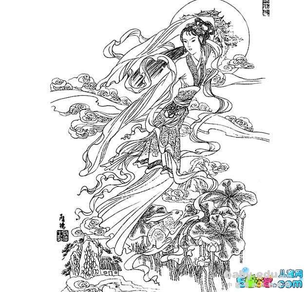 表情 中秋节嫦娥简笔画 嫦娥奔月 人物简笔画 中国婴幼儿教育网 表情