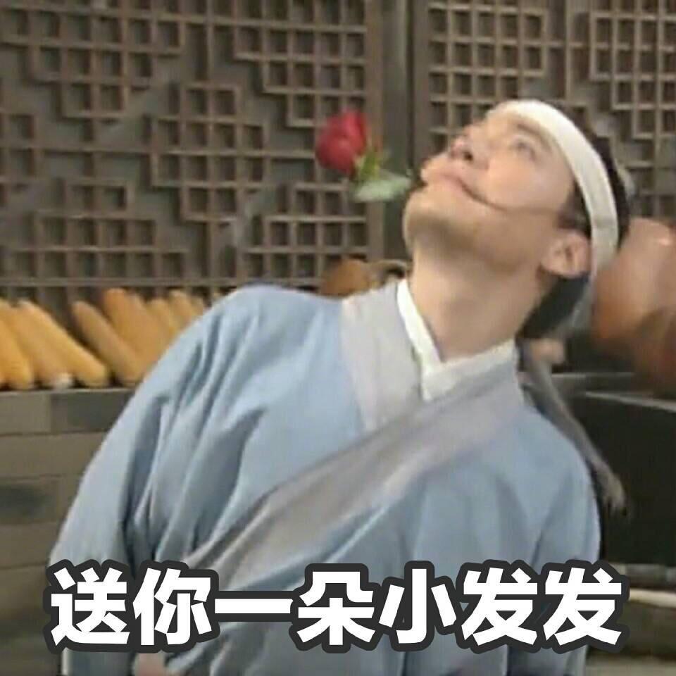 表情 送你一朵小花花 发发 大滔网aftao.com 表情