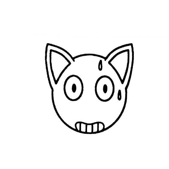 表情 害怕的简笔画表情图 3 卡通动漫简笔画 艺美术 表情