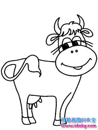 表情 卡通动物简笔画 牛 简笔画小牛 儿童简笔画图片大全 表情