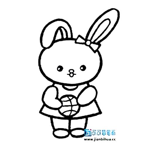 表情 卡通兔子头像简笔画,简单而又漂亮容易画的兔子 育儿天堂 表情