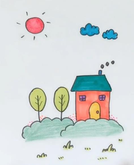 表情 房子简笔画图片房子大树太阳简笔画视频教程 素描自学网 表情