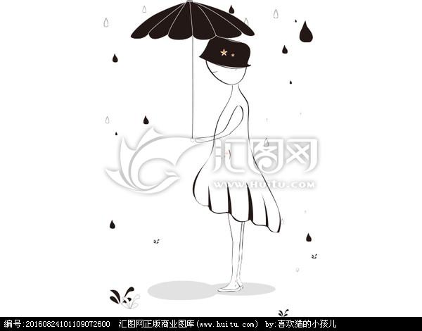 表情 下雨天撑伞简笔画下雨天撑伞大图下雨天撑伞背影卡通 表情