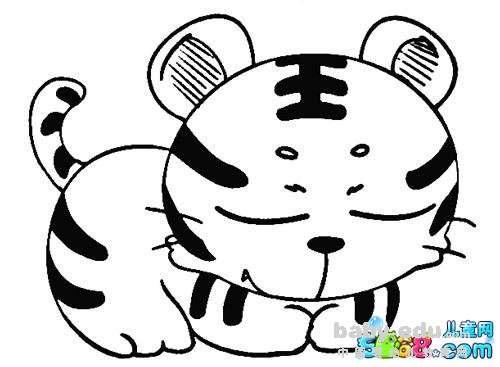 表情 小动物简笔画大全 咪咪睡觉的小老虎 动物简笔画 中国婴幼儿教育网 表情