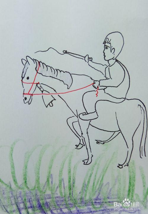 表情 童骑马怎么画 人骑马怎么画简单 骑马画 骑马简笔画 搜美网 表情