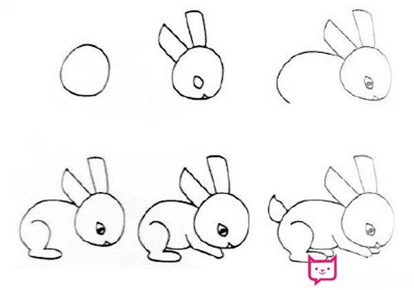 表情 漂亮的兔子简笔画图片,雪白的兔子 板报网 表情