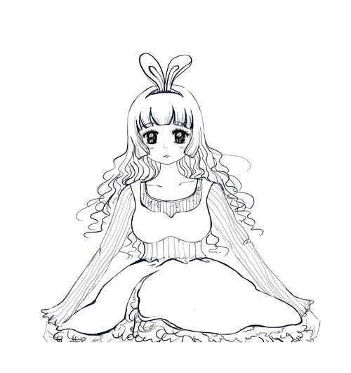 表情 可爱的兔女郎简笔画怎么画 钱柜娱乐客户端下载 表情
