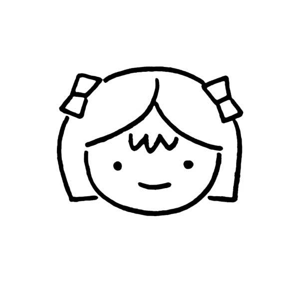 情 专题 女孩简笔画 简笔画图片大全 育才简笔画 表情