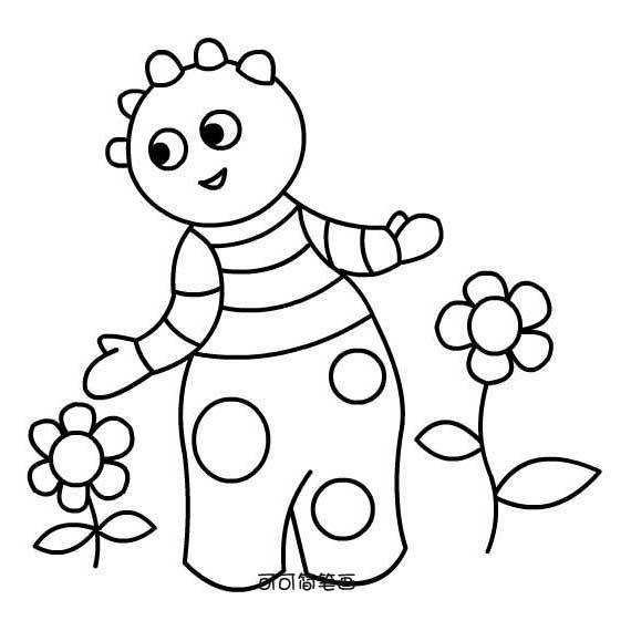 表情 花园宝宝儿童简笔画图片 育才简笔画 表情