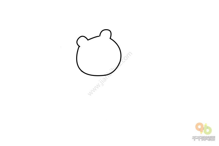 表情 布朗熊表情包 生气了简笔画千千简笔画人人都能轻松画简笔画图