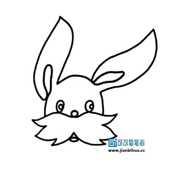 表情 一笔画小白兔头像 可可 表情